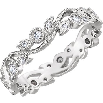 14k White Gold Diamond Anniversary Eternity Ring - #39432