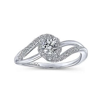 Adore Collection Bypass Complete Diamond Engagement Ring by Gabriel NY