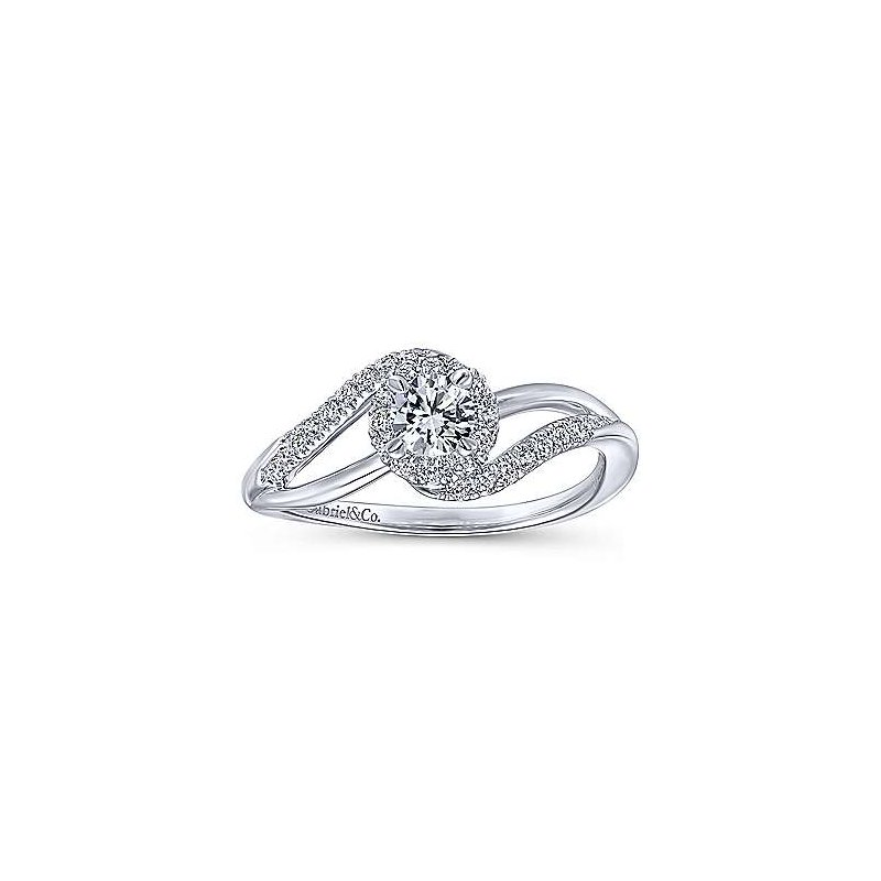 Gabriel NY Adore Collection Bypass Complete Diamond Engagement Ring by Gabriel NY