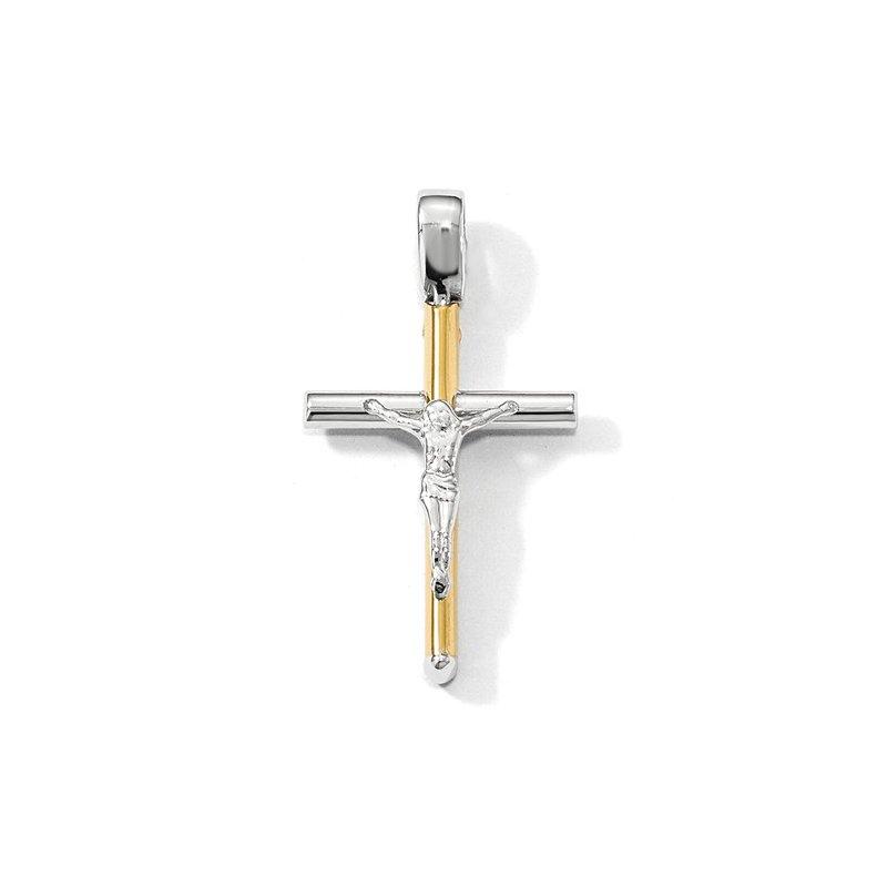 Crosses, Religious & Symbolic Jewelry 14k Yellow and White Gold Crucifix Pendant