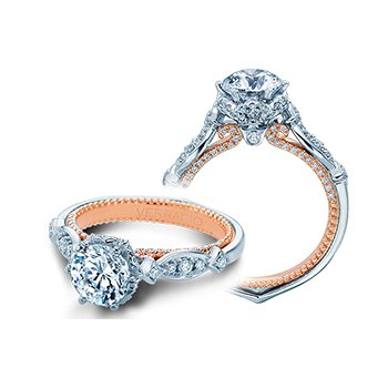 Verragio Couture 0443 R - 18k White and Rose Gold Diamond Engagement Ring