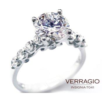Verragio Insignia 7041 - 18k White Gold Diamond Engagement Ring by Verragio