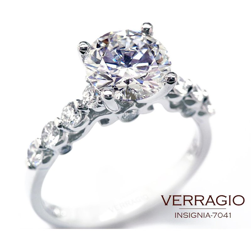 Verragio Verragio Insignia 7041 - 18k White Gold Diamond Engagement Ring by Verragio