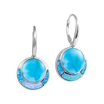 Alamea Larimar & Lab Created Opal Dangle Earrings