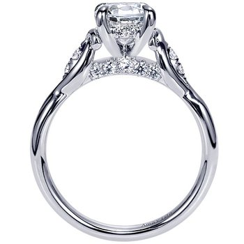 Amavida Collection by Gabriel NY Platinum Three-Stone Diamond Engagement Ring
