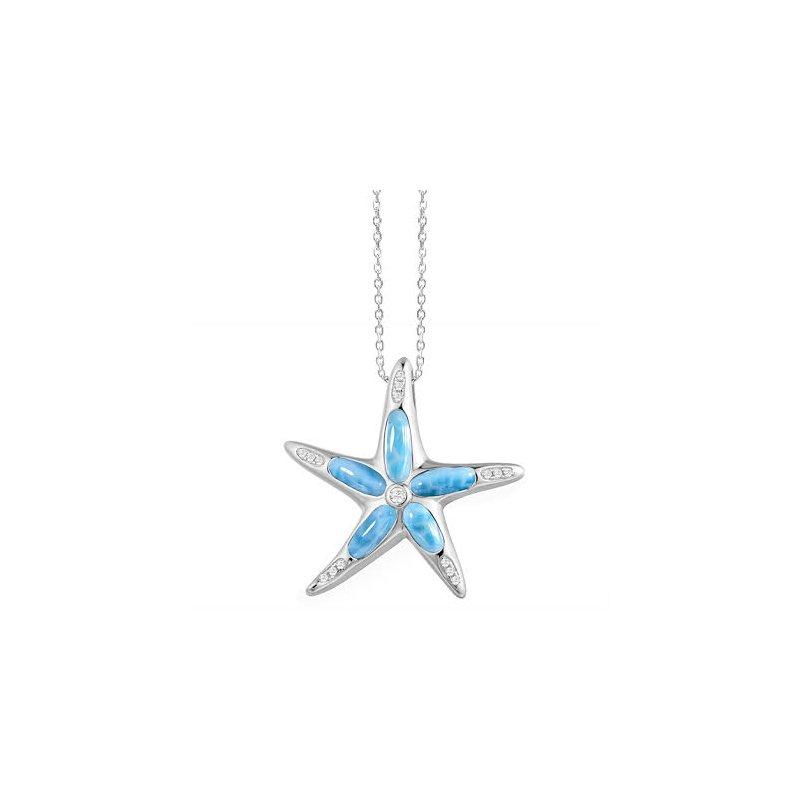 Alamea Larimar  Alamea Sterling Silver Starfish with Larimar