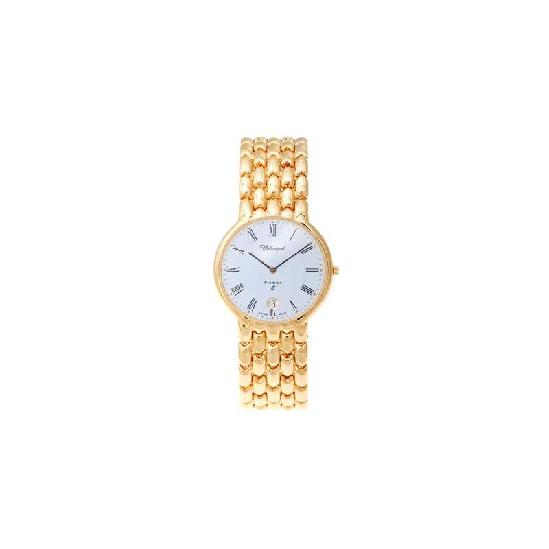 Swiss Watches Classique Gents Stainless Steel Gold Plated Swiss Quartz Watch - 9/69GP
