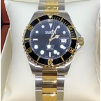 Swiss Watches SWISH Swiss Made Watch Stainless Steel and Gold Tone IPG Bezel - Style #SW007
