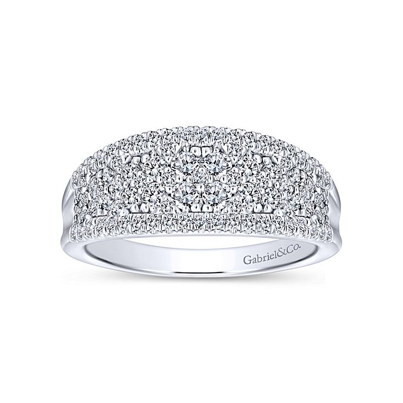 Gabriel NY Gabriel NY 14k White Gold Diamond Anniversary Band - Style #LR51342W45JJ
