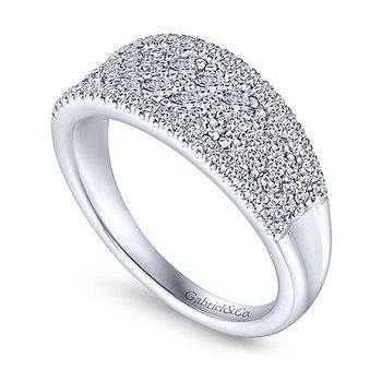 Gabriel NY 14k White Gold Diamond Anniversary Band - Style #LR51342W45JJ