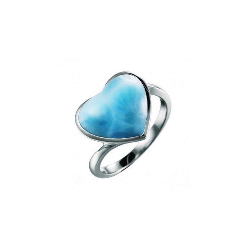 Alamea Larimar  Alamea Sterling Silver Larimar Heart Ring