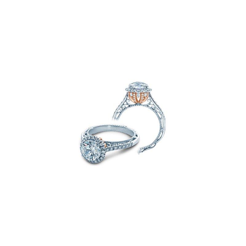 Verragio Verragio Venetian 5060R - TT - 18k White and Rose Gold Round Halo Diamond Engagement Ring by Verragio