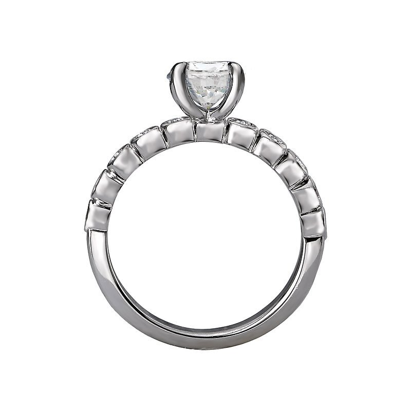 Signature Collection 14k White Gold Bubble Diamond Engagement Ring
