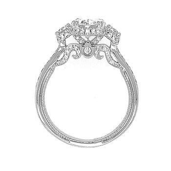 Verragio Insignia 7103 18k White Gold Oval 3-Stone Diamond Engagement Ring
