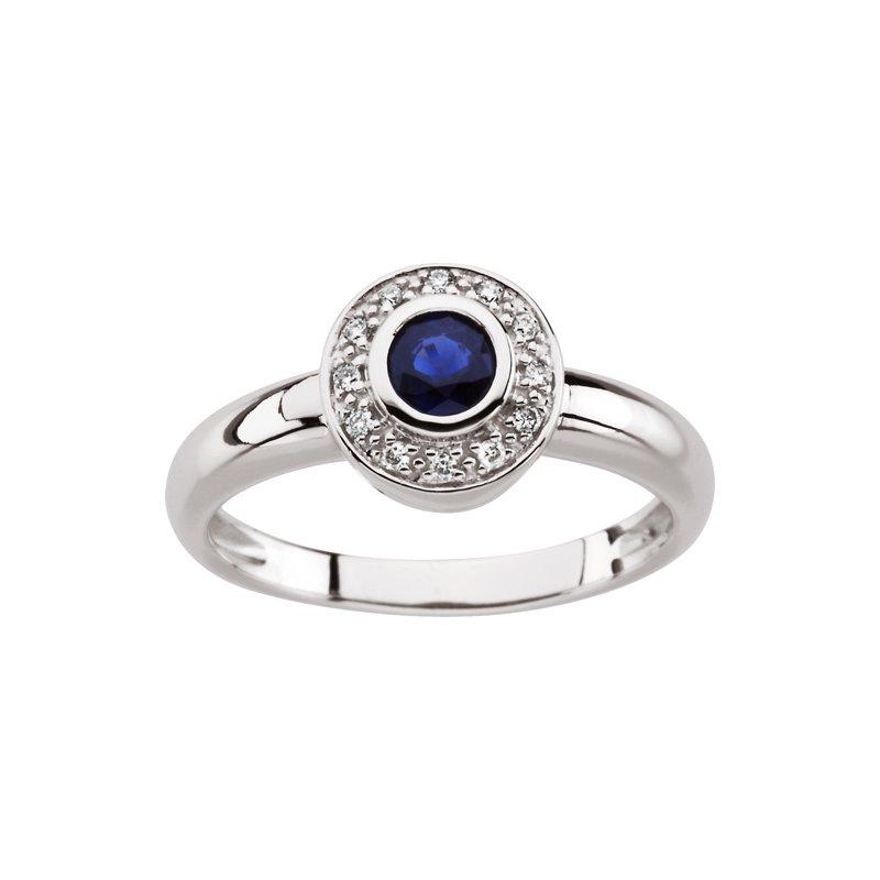 Signature Collection Genuine Sapphire & Diamond Ring - EL425134