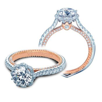 Verragio Couture 0459 RD-2WR - 18k White and Rose Gold Diamond Engagement Ring
