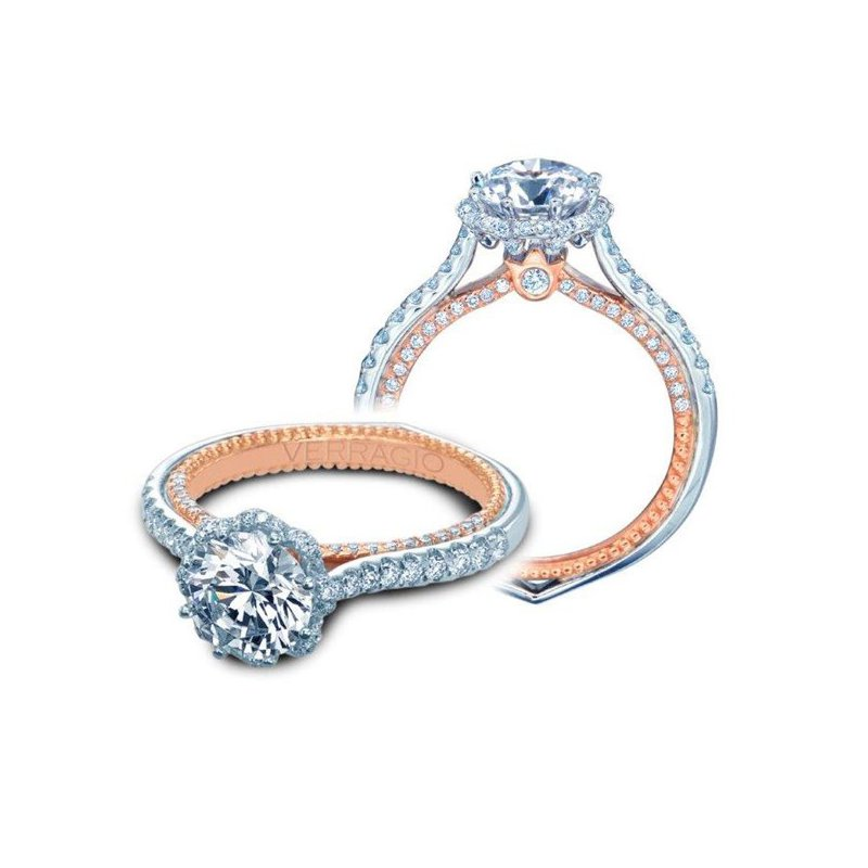 Verragio Verragio Couture 0459 RD-2WR - 18k White and Rose Gold Diamond Engagement Ring