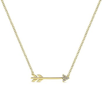Eternal Love Diamond Arrow Necklace by Gabriel NY