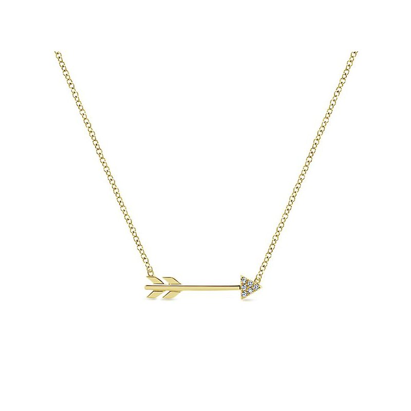 Signature Collection Eternal Love Diamond Arrow Necklace by Gabriel NY