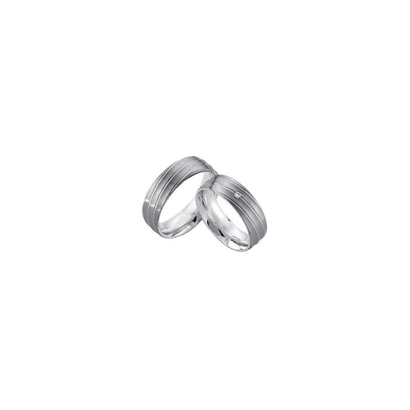 Samuel Jewels Palladium and Silver 7mm Wedding Band