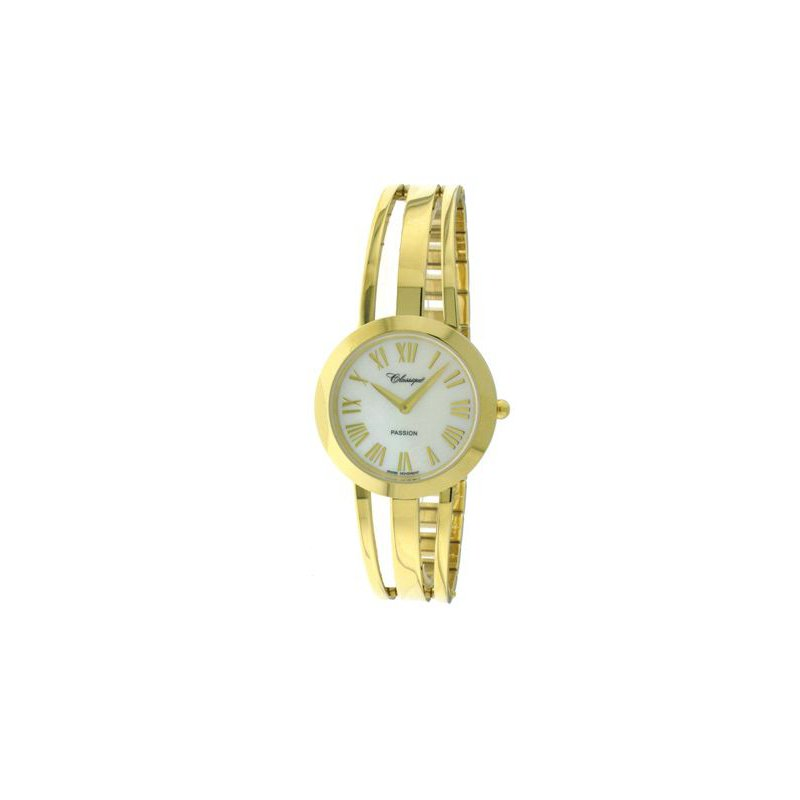 Swiss Watches Classique' Ladies Gold Plate 1/2 Bangle Watch - #28-130G