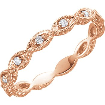 14k Rose Gold Diamond Wedding Ring from our Stackable Collection