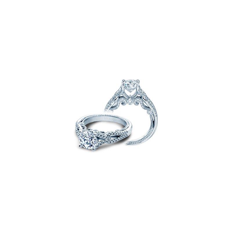 Verragio Verragio Insignia 7082R-PLT - Platinum Gold Twist Band Diamond Engagement Ring by Verragio