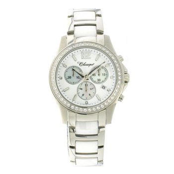 Classique Ladies' Chronograph White Ceramic Watch - #87-04WW