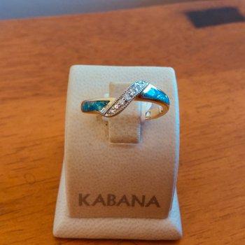 Kabana Australian Opal and Diamond Ring - #37536