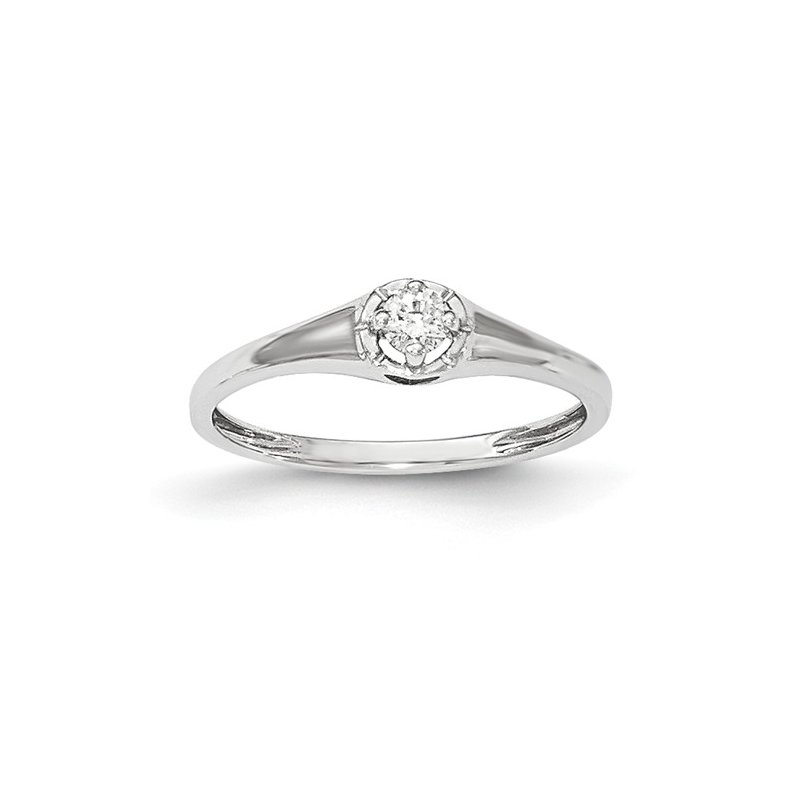 Signature Collection From the Promise Ring Collection 14k White Gold Solitaire Diamond Ring