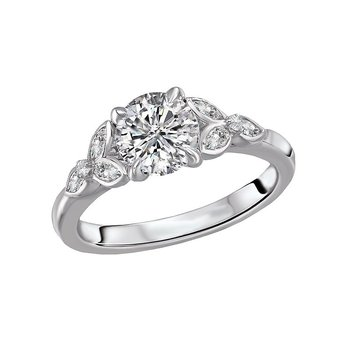 14k White Gold Diamond Mounting with Marquise Shapes