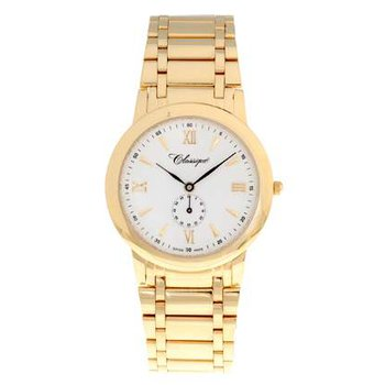 Classique Gents Stainless Steel Gold Plated Swiss Quartz Watch - #35719