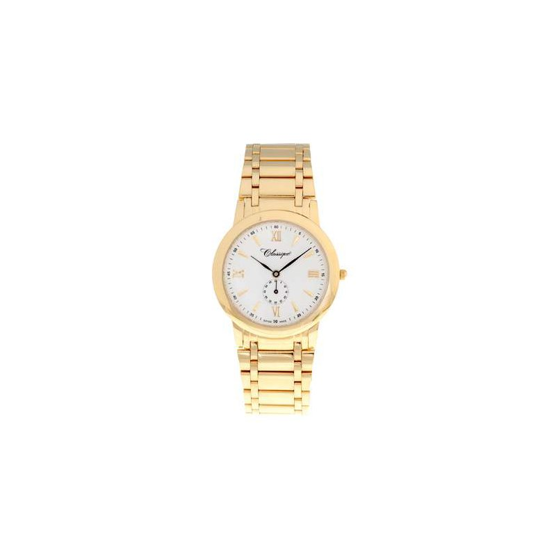 Swiss Watches Classique Gents Stainless Steel Gold Plated Swiss Quartz Watch - #35719