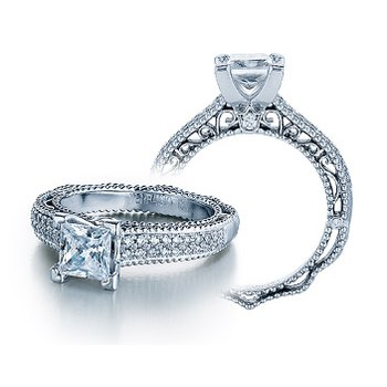 Verragio Venetian 5011P - 18k White Gold Diamond Engagement Ring by Verragio