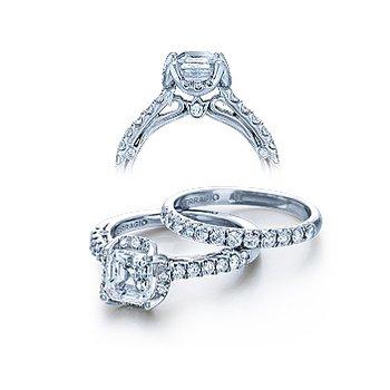 Verragio Couture 0393 - 18k White Gold Diamond Engagement Ring by Verragio
