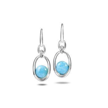 Sterling Silver Larimar Dangle Earrings