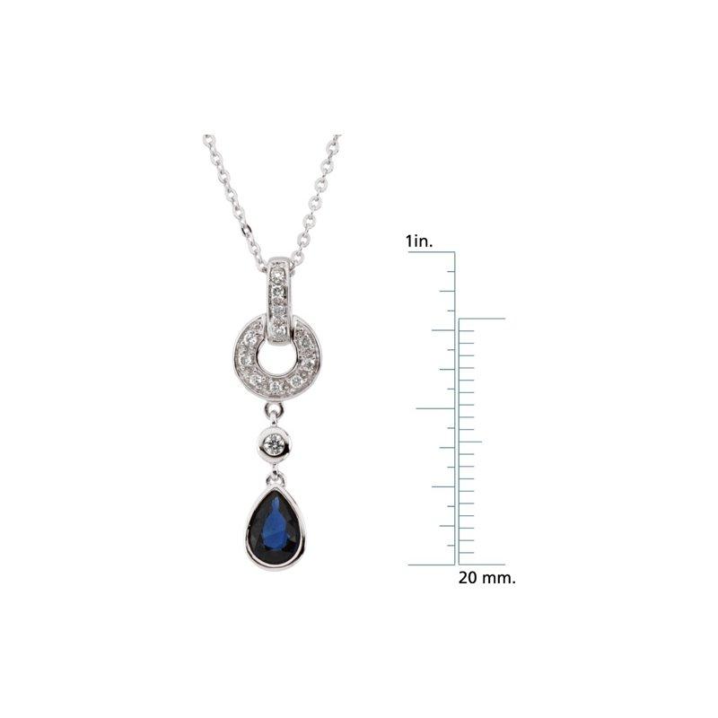 Signature Collection Genuine Sapphire & Diamond Necklace