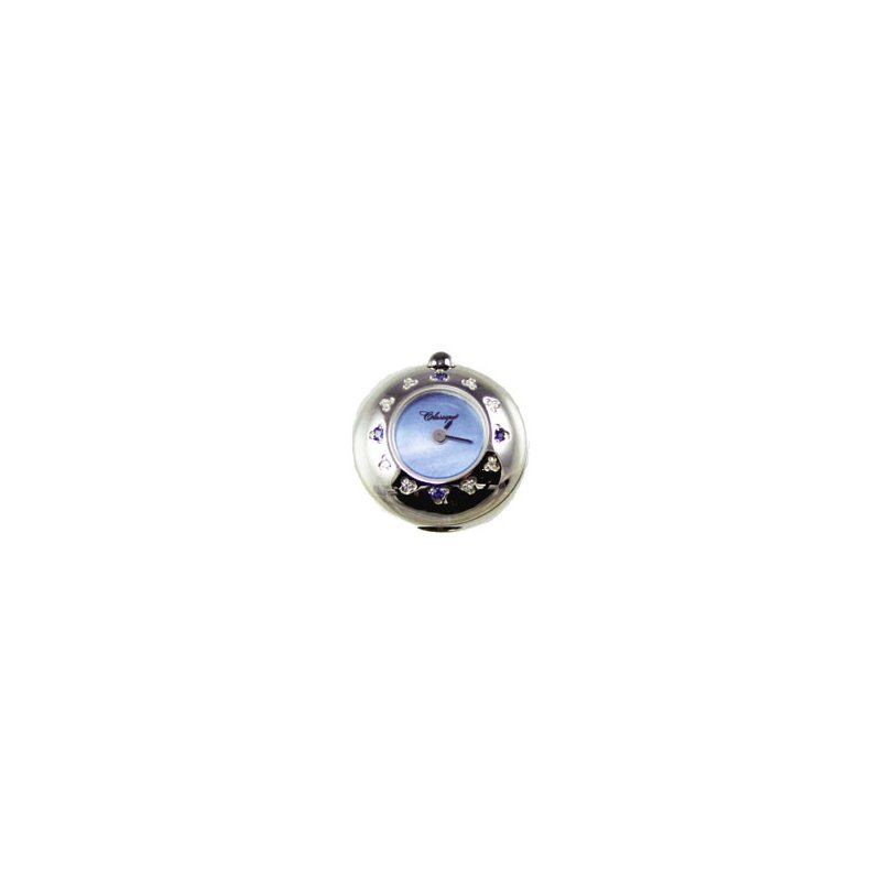 Swiss Watches Sterling Silver Bead Watch with Blue Sapphire, Diamond and Blue Mother of Pearl