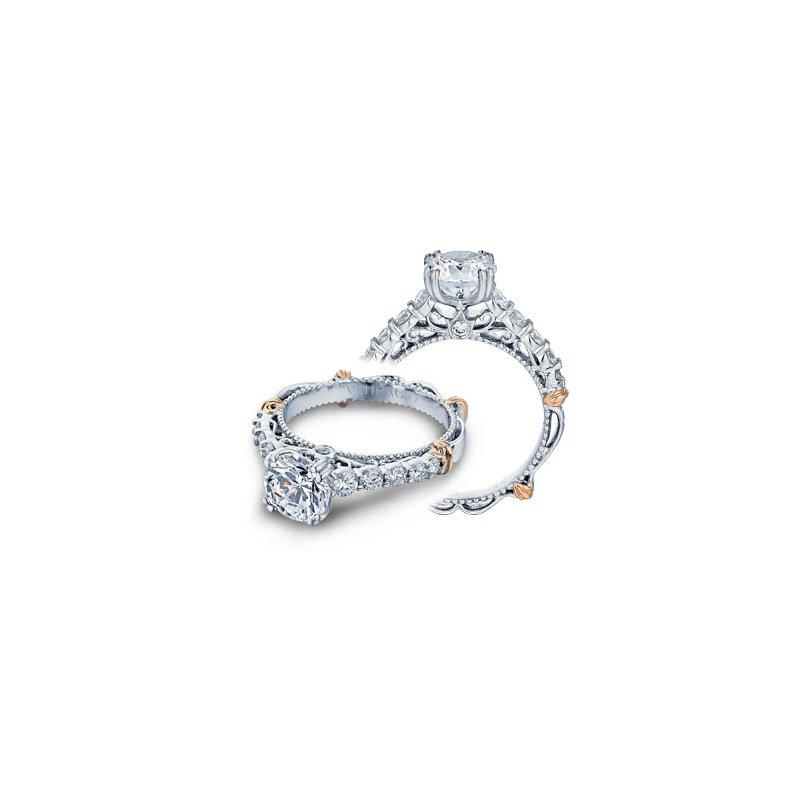 Verragio Verragio Parisian-116 - 14k White and Rose Gold Diamond Engagement Ring by Verragio