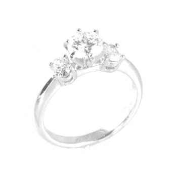 1 ct Center Diamond Engagement Ring