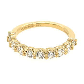 Verragio Couture ENG-0410LW Wedding Band in 18k Yellow Gold