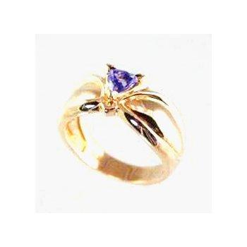 Genuine Tanzanite Ring in 14k Yellow Gold