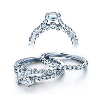 Verragio Insignia 7008 - 18k White Gold Diamond Engagement Ring by Verragio