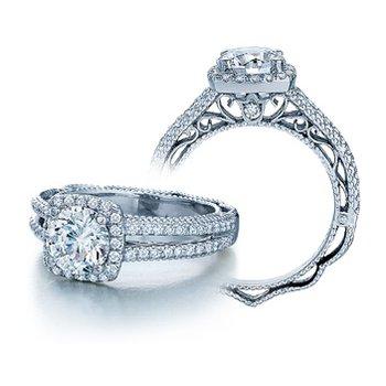 Verragio Venetian-5007CU - 14k White Gold Diamond Engagement Ring by Verragio
