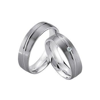 Palladium and Silver 6mm Wedding Band