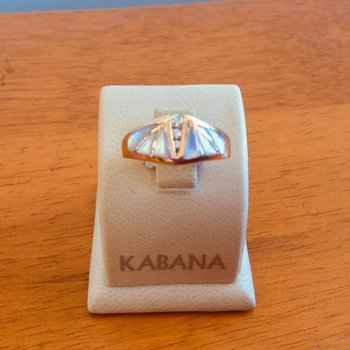 Kabana Pink Mother of Pearl and Diamond Ring