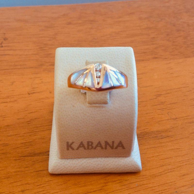 Kabana Jewelry Kabana Pink Mother of Pearl and Diamond Ring