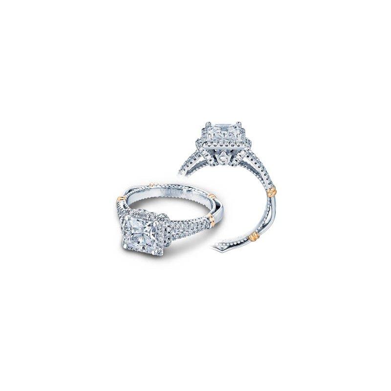 Verragio Verragio Parisian D-117P - 14k White and Rose Gold Diamond Halo Engagement Ring by Verragio