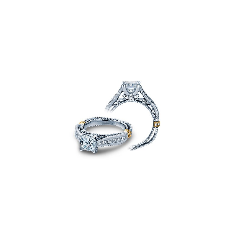 Verragio Verragio Venetian 5037P - 14k White Gold Princess Cut Diamond Engagement Ring by Verragio