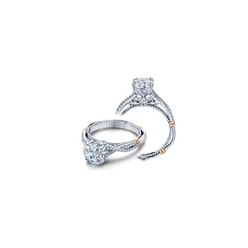 Verragio Verragio Parisian D-105 - 14k White and Rose Gold Diamond Engagement Ring by Verragio